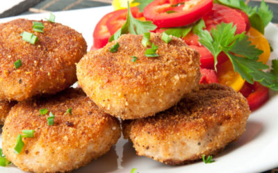Vegetable Cutlet with Madras Curry Dip